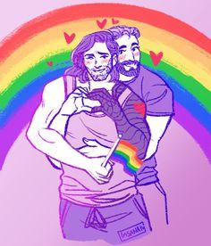 Stucky gay pride!🌈 Marvel Jokes, Marvel Avengers, Marvel Comics, Winter Soldier, Lgbt, Bucky And Steve, Best Superhero, Stucky, Bucky Barnes