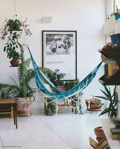 Decoração: Rede na sala, no quarto, no home office, na varanda. Deixe sua casa mais aconchegante! - Follow the Colours