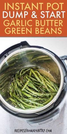 Garlic Butter Sesame Instant Pot Green Beans are the perfect side dish! So versatile, so flavourful and super easy to make! Just the thing for everything from your holiday table and busy weeknight meals, to potlucks, picnics and barbecues. Instant Pot Dinner Recipes, Supper Recipes, Lunch Recipes, Pasta Recipes, Goulash, Instant Pot Pressure Cooker, Pressure Cooker Recipes, Fodmap, Ravioli