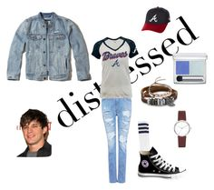 """Distressed"" by chauert ❤ liked on Polyvore featuring IRO, RMK, American Apparel, Converse, Hollister Co., New Era, BillyTheTree, DKNY and Monica Vinader"
