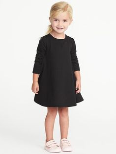 French-Terry Sweatshirt Dress for Toddler Girls  | Old Navy $12 Black