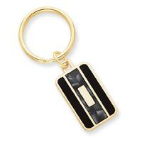 Gold-Plated Black & Grey Colored Key Ring
