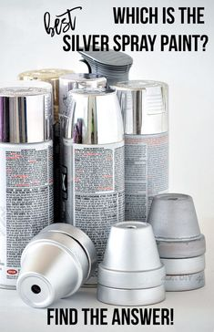 Frustrated with trying to find the best silver spray paint? Here is a comparison of 7 products to help you pick your favorite metallic silver spray paint! Best Spray Paint, Metallic Spray Paint, Silver Paint, Gold Spray, Creative Crafts, Diy Crafts, Creative Ideas, Painting Plastic, Cool Diy Projects