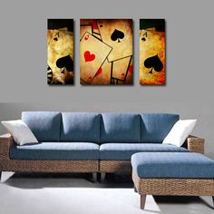 poker room decorations | Poker card room decorative painting mural wall painting hotel rooms ...