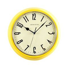 yellow clock. i have this one in my laundry room