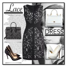 """""""Glam"""" by andrea2andare ❤ liked on Polyvore featuring Michael Antonio, Gianvito Rossi, Dolce&Gabbana, Yves Saint Laurent, lacedress and polyvoreeditorial"""