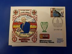 LIMITED VARIATION SIR MATT BUSBY 80TH BIRTHDAY (MAN UTD) 29/5/89 FIRST DAY COVER   eBay Matt Busby, First Day Covers, Trafford, 80th Birthday, Elizabeth Ii, Manchester United, Ebay, Man United, 80 Birthday