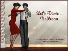 Let's+Dance....Ballroom http://www.yurdigital.com/catalog/2099-lets-dance-ballroom Inspired by the world of Ballroom dancing, we have couple's dancing poses for Victoria4 and Michael4.