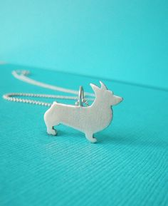 Hey, I found this really awesome Etsy listing at https://www.etsy.com/listing/159355269/love-my-corgi-sterling-silver-silhouette