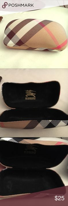 Authentic Burberry Eyeglass Case! Beautiful eyeglass case from the Burberry store when I bought my sunglasses! In great condition, stored in my drawer away from the sun and elements! Burberry Accessories