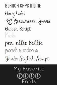 MY FAVORITE FREE FONTS.