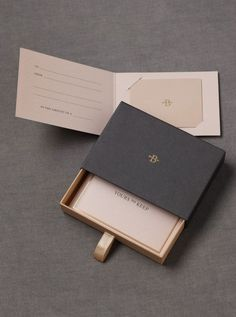 love the elegant packaging, can possibly used as gallery invitations or fold out exhibition poster/flyers