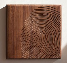 Dave Marcoullier  Wood Routing Fingerprint 7x7  by deav