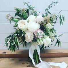 Bridal bouquet using foliage photo by @wildflowerwaiheke •