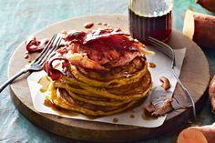Fold sweet potato mash into pancake batter for this diner-style brekkie.
