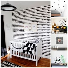 More than 40 ideas for a black and white nursery. Gorgeous!