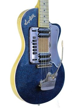 Kurt Cobain Owned & Played Authentic Hagstrom Blue Sparkle Deluxe Nirvana Guitar