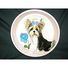 "Pet Food Bowl, 8"" Dog Bowl for Food or Water. Personalized at no Charge. Signed by Artist, Debby Carman. @@ For more information, visit image link. (This is an affiliate link and I receive a commission for the sales)"