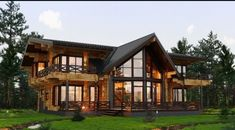 ideas exterior rustic homes metal buildings for 2019 Mountain Home Exterior, Modern Mountain Home, Modern Wooden House, Modern House Design, Style At Home, Luxury Homes Dream Houses, Dream Home Design, House In The Woods, Log Homes