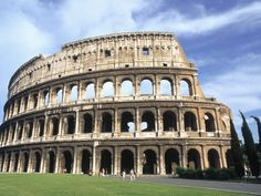 The Coliseum (originally named Flavian Amphitheater) in Rome, Italy.  Historic and must-see.