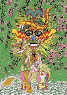 Psychedelic works of Keiichi Tanaami