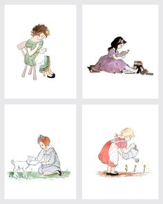 Children's Wall Art Prints - GIRLHOOD Series -  Girl Kids Nursery Room Decor on Etsy, $67.00