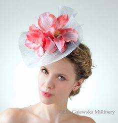 Cornflower Blue Headpiece Bright Blue by EllaGajewskaHATS on Etsy, £159.00