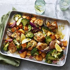 Healthy chicken recipes don't have to be boring – try our 10 healthy recipes from a pesto pasta bake, to spicy stir-fried rice and tangy shawarma flatbreads. Find more healthy recipes at Tesco Real Food. Healthy Chicken Recipes, Healthy Dinner Recipes, Cooking Recipes, Chicken Tray Bake Recipes, Healthy Meals, Cooking Games, Recipe Chicken, Healthy Student Meals, Chicken Thigh Fillet Recipes