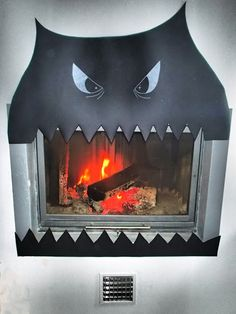 Fireplace Halloween decoration - archiLAURA Home Design: My Halloween party