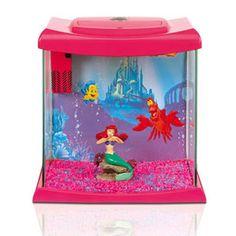 Disney princess ariel the little mermaid aquarium kit 1 5 for Disney fish tank