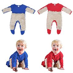 Baby Jumpsuit Boys Girls Mop Clothes Long Sleeve Swob Romper Outfit www. Baby Jumpsuit, Jumpsuit Outfit, Toddler Boys, Baby Kids, Jumpsuits Uk, Long Sleeve Romper, Baby Boy Outfits, Boy Or Girl, Atlanta
