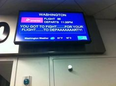 Beastie Boys tribute at the airport. Well done Virgin!