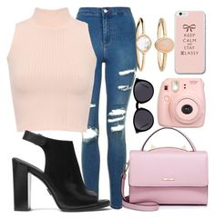 """""""Rock me"""" by betty220285 on Polyvore featuring Topshop, WearAll, Michael Kors, Fujifilm, Yves Saint Laurent, WithChic and Accessorize"""
