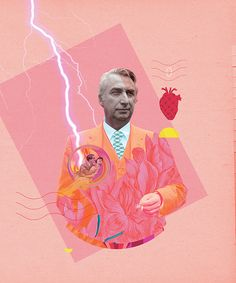Roland Barthes in Philosophie Magazine by Séverine Scaglia Roland Barthes, Portraits, Illustrations, Collage Art, Cartier, Tarot, Stickers, Movie Posters, Graphic Art