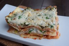 ''Ricotta'' Lasagna: - 6 Loprofin Lasagna - 1 Ricotta imitation recipe (see miscellaneous section of this website for the recipe) - 1 cup. Protein Foods, Lasagna, Breakfast, Ethnic Recipes, Copy Cat Recipe, Dish, Recipes, High Protein Foods, Morning Coffee