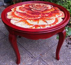 Rose mosaic table