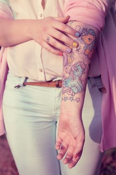My little pony tattoo. Would never get this but sew adorable ! ☺