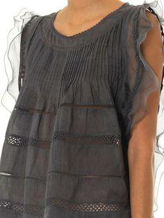 Isabel Marant Ojima ramie vintage ruffle top