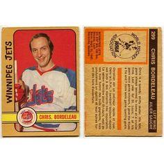 1972 73 OPC WHA Chris Bordeleau Card  299 Winnipeg Jets 1ad7bd4ca