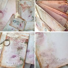 Wedding guest book With love from. Paris by youruniquescrapbook Vintage Graduation Party, Wedding Couples, Wedding Ideas, Guest Books, Album, Altered Books, Wedding Guest Book, Junk Journal, Wedding Vendors