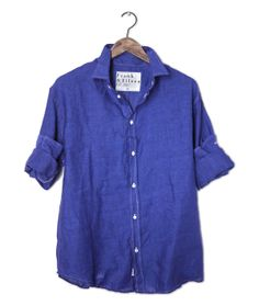 Royal blue linen shirt