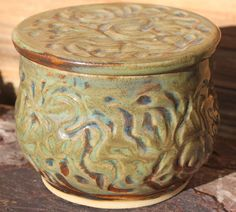 Pottery French Butter Crock Wheel Thrown Butter by PoetryinPottery, $28.00