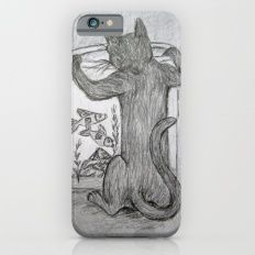 Curious Cat and the Goldfish Drawing iPhone 6s Slim Case