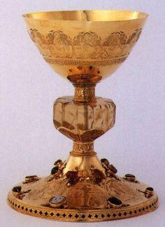 UNKNOWN GOLDSMITH, German St Bernward Chalice 1390s Gold, height 22,5 cm, cup diameter 15,2 cm Cathedral Treasury, Hildesheim: