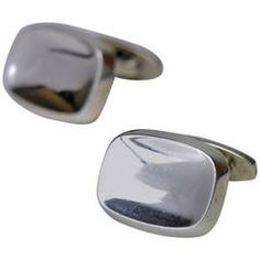 Bent Knudsen silver concave cufflinks design number 20