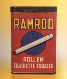 Antique Tins | Pocket Tins Ramrod Roll'Em Tobacco Tin – Antique Tobacco Tins ...