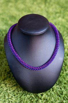 Purple and violet full persian chainmaille necklace by MadeByChris Nut Bracelet, Chainmaille Bracelet, Beaded Necklace, Pendant Necklace, Jump Ring Jewelry, Bead Jewelry, Jewelry Making, Chain Mail, Purple Rain