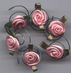 Roses for your hair.  So easy to use and so elegant to wear. Light Pink Rose Hair Swirls Hair Twists Hair Spins by hairswirls1, $8.99
