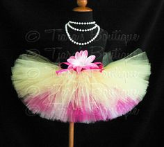 Hey, I found this really awesome Etsy listing at https://www.etsy.com/listing/128901043/hot-pink-and-yellow-tutu-summertime-pink
