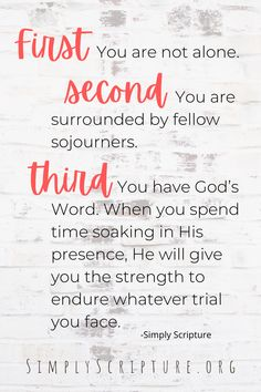 "Are you stuck in a trial and find your self needing some endurance? Check out these 5 Scriptures and great insights from guest blogger Sheryl Aeschliman at Simply Scripture. Instaencouragments blogpost titled ""ABC's of God's Love Letter"" Endure is a great resource to encourage your faith in the middle of a trial. Simply Scripture. Christian Devotions, Christian Encouragement, Christian Quotes, Christian Women, Christian Living, Enjoy Quotes, Powerful Scriptures, Stress Quotes, Faith Quotes"